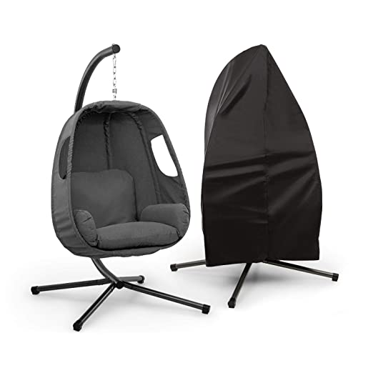 blumfeldt Bella Donna sillón Colgante - Balanceo Suave y Relajante, Unique Comfort, Cojines Acolchados, 12 cm de Relleno, Acolchado Lateral, Patas de ...