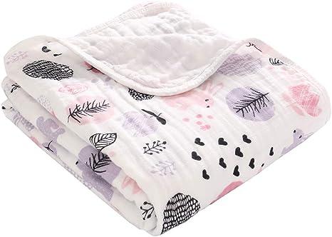 Miracle Baby Mantas Bebe Algodón, Swaddle Blanket de Muselina 100% Algodón, Arrullo para Bebe,Baño De Envolver Para Recién Nacido Dos Capas 110x150cm: Amazon.es: Bebé