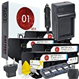 4x DOT-01 Brand 7200 mAh Replacement Sony NP-F970 Batteries and Charger for Sony NEX-FS700 Camcorder and Sony F970 Accessory Bundle with BONUS Lens Blower Brush Cleaning Kit and Hard Memory Card Case