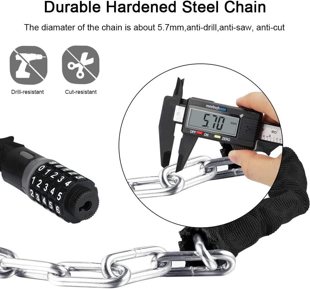Bügelschloss Fahrrad Motorrad Roller Sicherheit Stahlkette mit 2 Schlüssel  hw