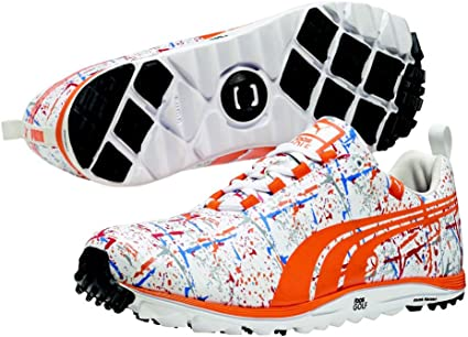 Mens PUMA Faas Lite Splatter Golf Shoes