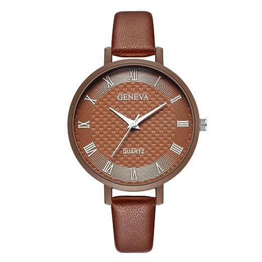 Relojes Mujer,❤LMMVP❤Nueva moda dama de la mujer de Ginebra números romanos