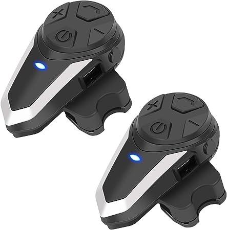 1000M Auricolare Communicator per Casco del Motociclo con Controllo del Rumore Avanzata Interfono Moto Casco Bluetooth per 2-3 Motociclisti runhua BT-S3 Bluetooth per Casco da Moto