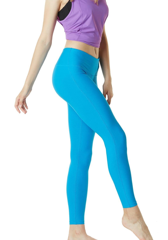TSLA Yoga Pants Mid-Waist Leggings w Hidden Pocket FYP51// FYP41 FYP73