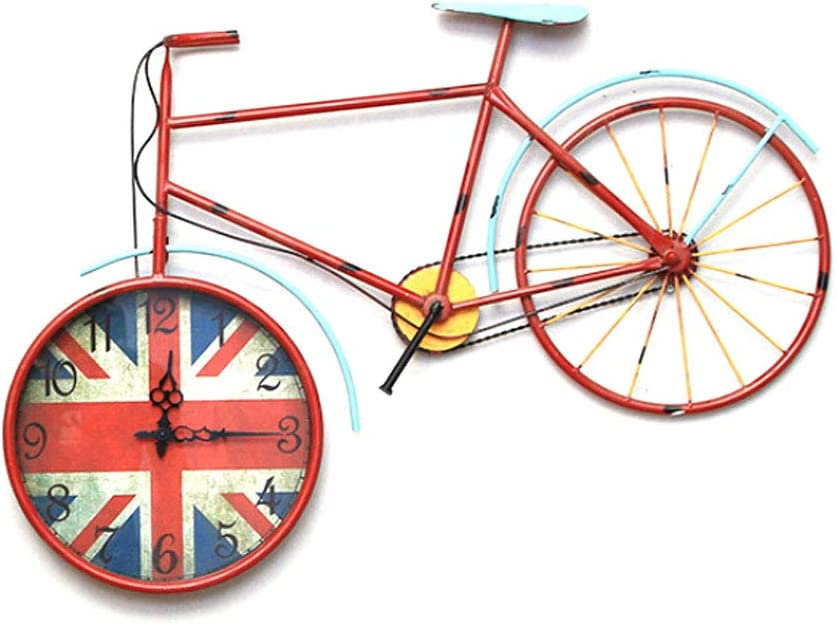 LXKY Reloj de Pared, Adorno Antiguo Reloj de Bicicleta (93 * 59 ...