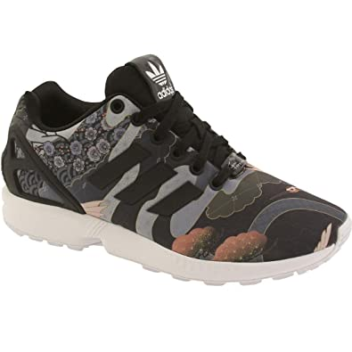 Adidas Zx Flux W Women\u0027s Casual Shoes Core Black/White s75039 (5.5 B(