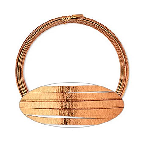 Amazon.com: FLAT Textured Copper Aluminum Wire 5mm 18 Gauge Wrapping ...