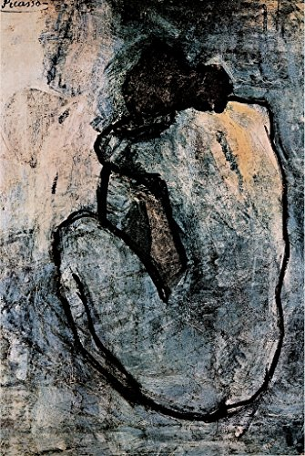 Pablo Picasso Blue Nude 1902 Painting Fine Art Print Poster