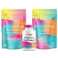 Pink Stork Postpartum Bundle: Postpartum Prenatal Vitamins + Uplift and Recovery...