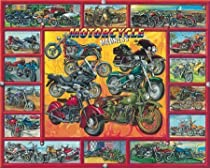 Motorcycle Madness 1000 Piece Puzzle: Artist Ernest O. Brown by White Mountain Puzzles
