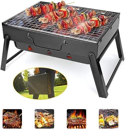 BestCool Holzkohlegrill Tragbarer BBQ-Grill Edelstahl Faltbarer Barbecue-R/äuchergrill Barbecue-Schreibtisch Perfekt f/ür Garten Camping Park Festivals Party BBQ