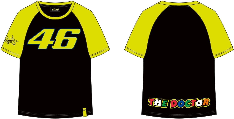 VR46 Camiseta Niño Kid Valentino Rossi 46 TG. 1/3 años: Amazon.es ...