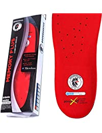 Insoles for Work Boots, Women Shoe, Men's Boot Insole (Red, US M7.5 F9)