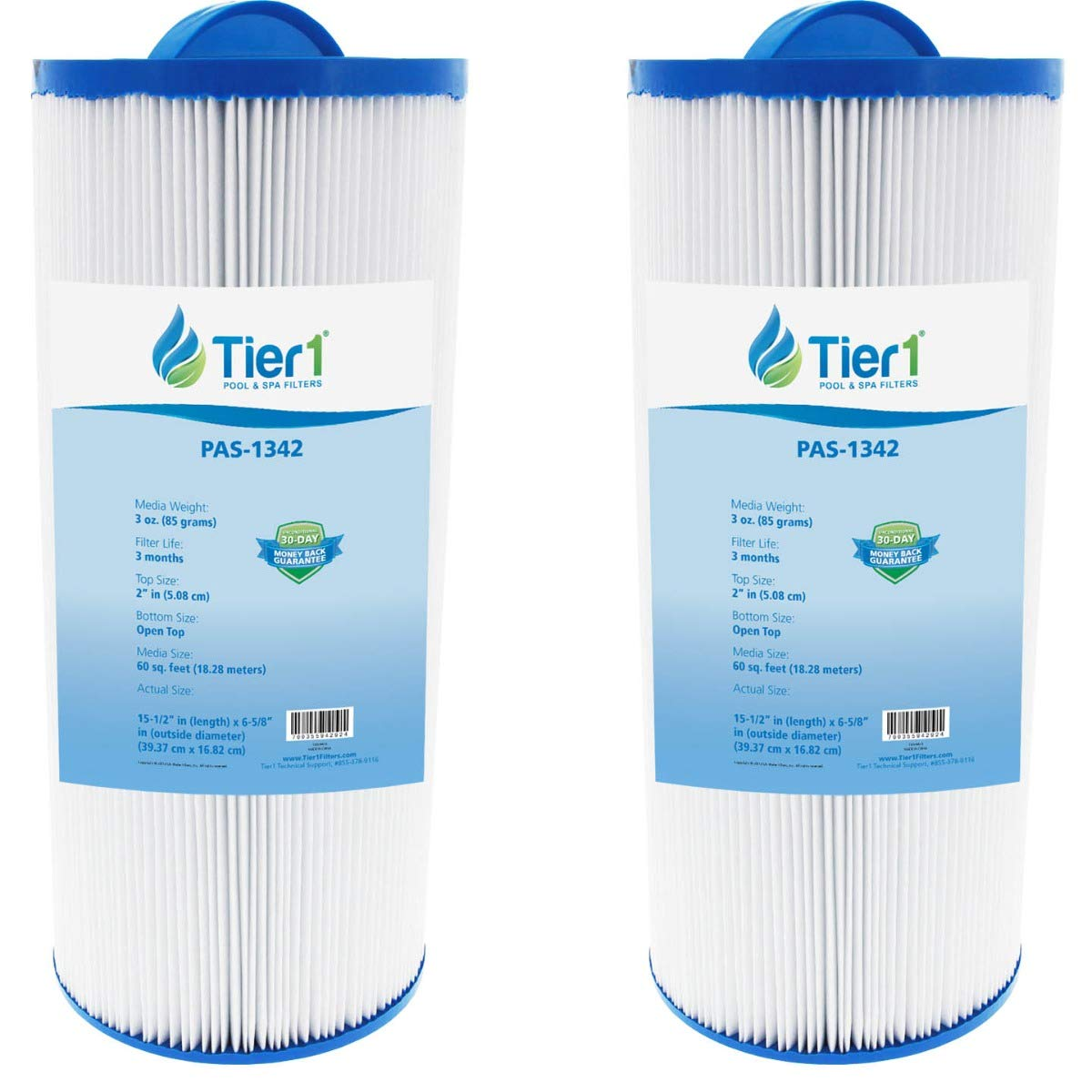 Tier1 Pool & Spa Filter Replacement for Jacuzzi J300 6541-383 Models for J300 Series Hot Tubs - Pleated Water Filter to Reduce Water Contaminants - 2 Pack