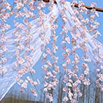 PARTY-JOY-Artificial-Cherry-Blossom-Hanging-Vine-Silk-Garland-Fake-Wreath-Wedding-Party-DecorPack-of-2