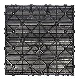 NewTechWood US-QD-ZX-CH Ultrashield Naturale Outdoor Composite Quick Deck Tile (10 Case), 1' x 1', Hawaiian Charcoal