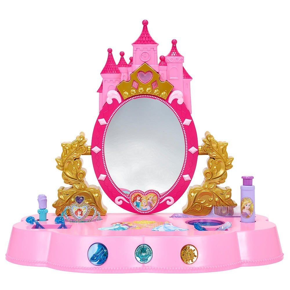 Amazon disney princess sing and shimmer table top vanity amazon disney princess sing and shimmer table top vanity toys games geotapseo Images