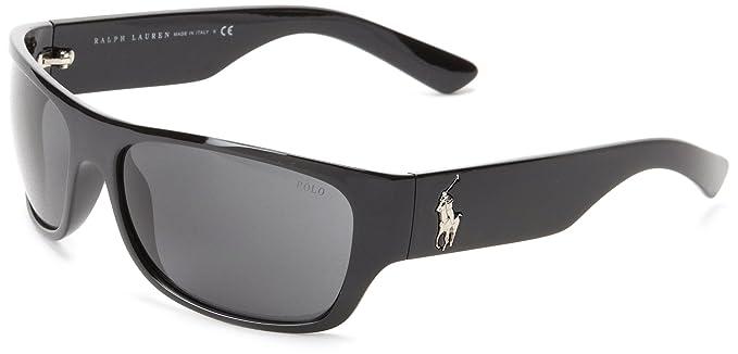Gafas de Sol Polo Ralph Lauren PH4074 SHINY BLACK GRAY: Amazon.es ...