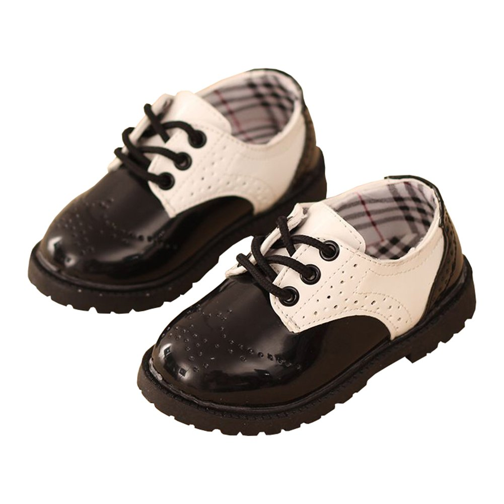 LINKEY Toddler Boy Christening Baptism Church Shoes School Uniform Oxfords Saddle Shoes