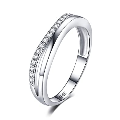e65aee384a8b JewelryPalace Anillo de Aniversario Boda Contorno Guardia Banda Plata de ley  925  Amazon.es  Joyería