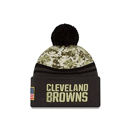 sports shoes 00d5a 5f3be New Era 2016 Men s Salute to Service Knit Hat (One Size, Cleveland Browns)