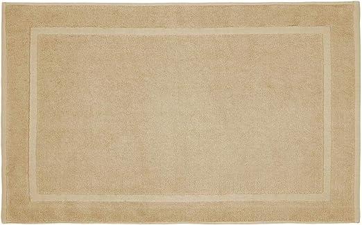 REVITEX - Alfombra de Baño Estela Beige - Rizo 100% algodón - Absorbente - 50x70 cm: Amazon.es: Hogar