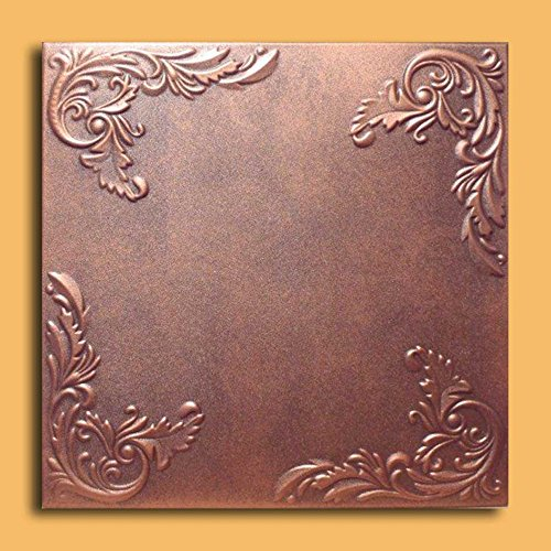 Antique Ceilings Inc - Marseille Copper Brown - Styrofoam Ceiling Tile (Package of 10 Tiles)