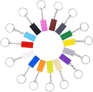 Kids Party Bag Quirky Gifts BRAND NEW LEGO Keychain LEGO Brick 2x4 Keyring