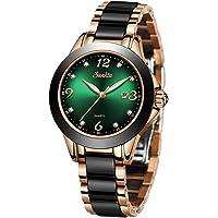 LIGE Moda Señoras Reloj de Pulsera Impermeable Cuarzo Reloj de Pulsera para Mujer Acero Inoxidable Pulsera Velar por…