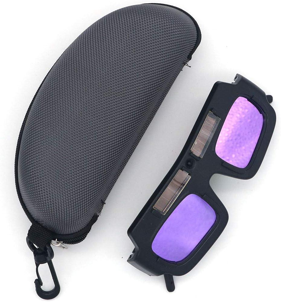 Gafas de protección ocular de gafas de soldadura NUZAMAS, gafas de soldadura de oscurecimiento automático solar, herramientas de protección de seguridad para soldadores, viene con estuche para gafas