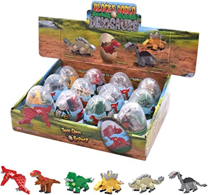 New 4 Sets Dinosaur World Blocks Dinosaurs Mini Figures Building Kid Toys Gift