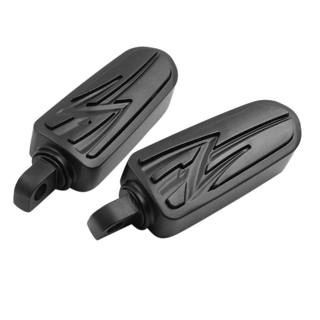 F FIERCE CYCLE 2pcs Aluminum Alloy Rubber Motorcycle Foot Pegs Footrest Pedal Black for Harley Davidson