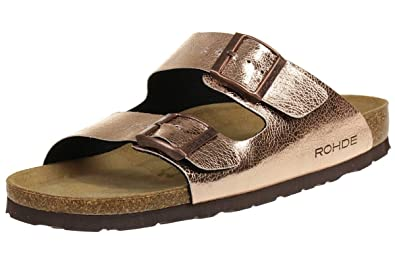 Rohde Riesa 5631 Damen Zehentrenner Schuhe Kupfer Schuhgrosse Eur 40