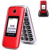 Ushining 3G Seniors Phone Unlocked SIM-Free 3G Flip Mobile Phones Dual SIM Card Slots Flip Phone Large Button Large…