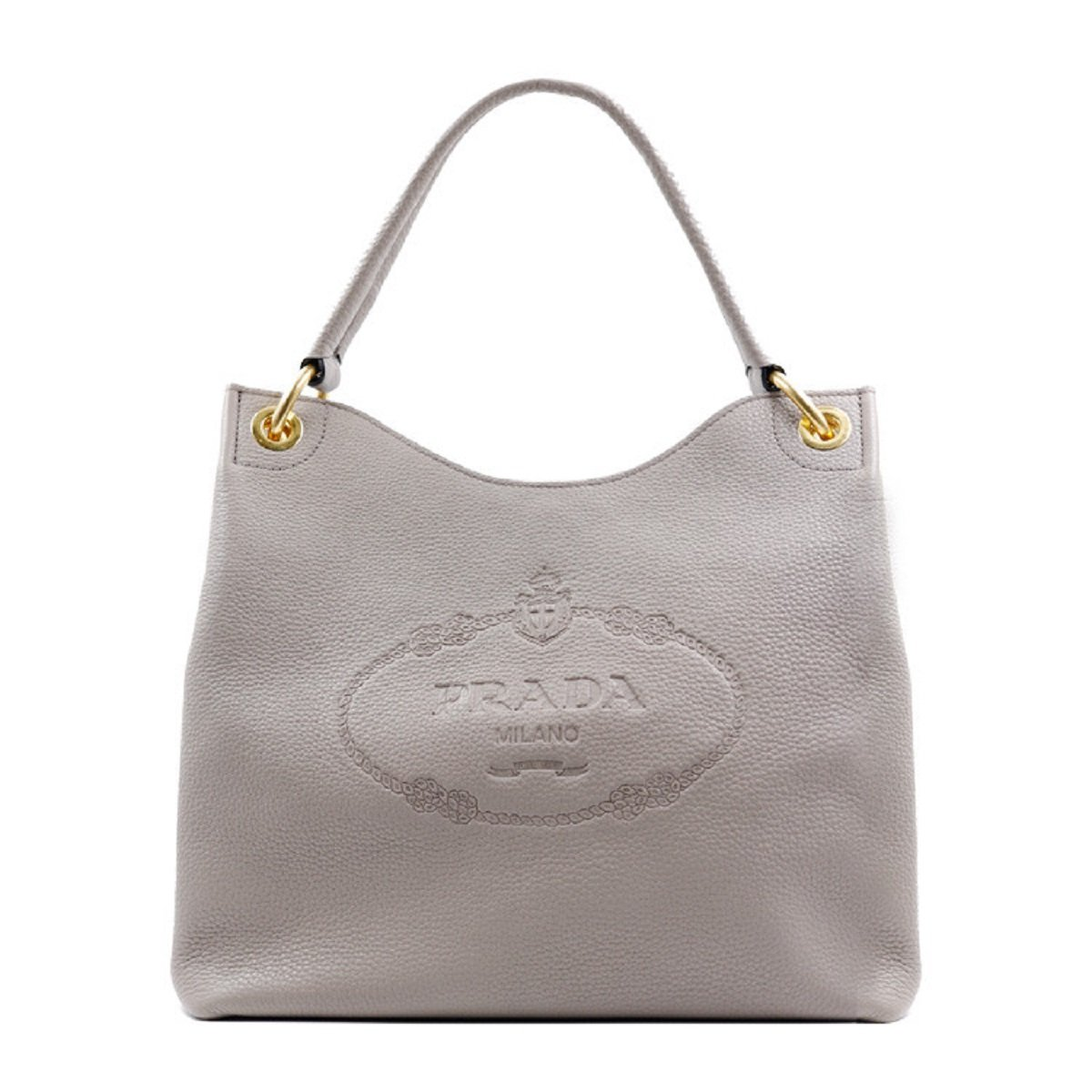 71515c51eaea Prada Women's Vitello Daino Grey Leather Satchel Bag Handbag 1BC051:  Amazon.co.uk: Shoes & Bags