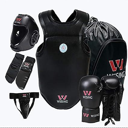 Boxing Protector Set Kit Chest Leg Guard MMA Body Training Kickboxing Sports