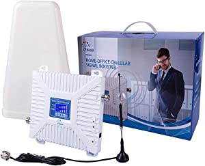 CiBoost Cell Phone Signal Booster for Home and Office Verizon AT&T T-Mobile Sprint Supports Enhance Cell Phone Signal up to 32x