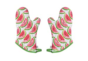 Now Designs Basic Oven Mitt, Watermelon - 6.5 x 13 in | Set of 2