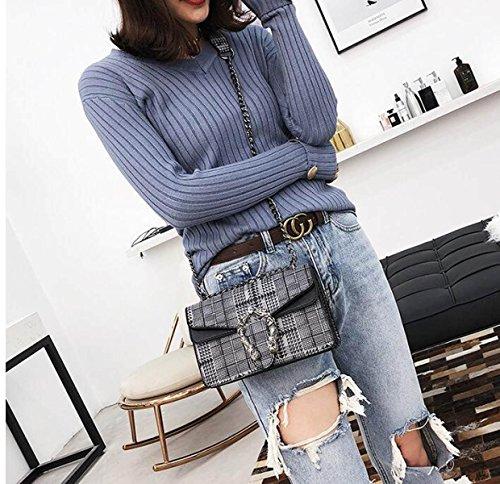Carreaux Femelle Coréen à Paquet Nouveau Toile a3 Fashion Diagonale Sac épaule Sauvage q5CSUpxw