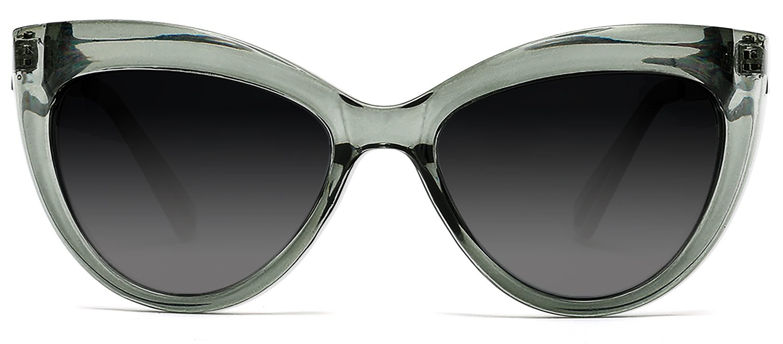 9879afd934 Samba Shades Polarized Classic Modern Marilyn Cat Eye Sunglasses  Transparent Green