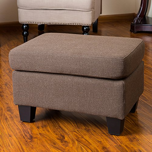 Christabel Brown Fabric Ottoman Footstool (Ottoman Fabric Footstool)
