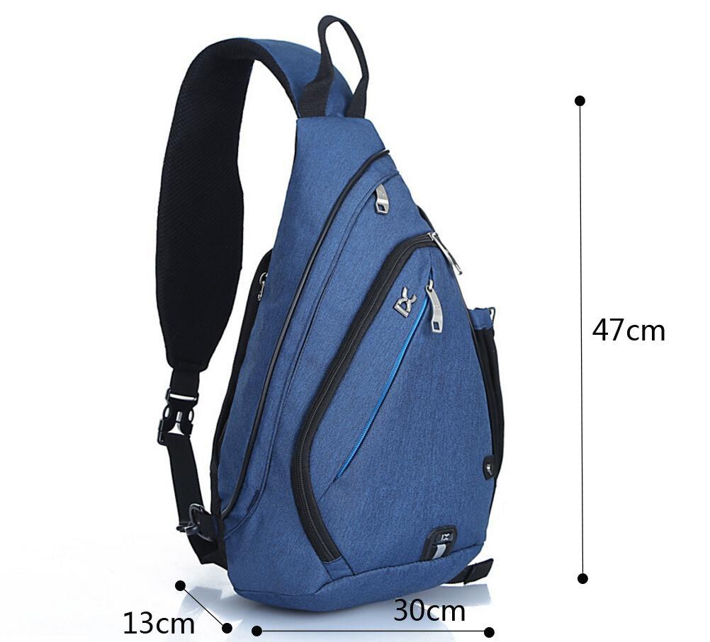 Bleu EGOGO Multi-fonctionnel Sacoche Bandoulière Sacoches Triangle Goutte// Sac à dos Sac à Bandoulière épaule de Randonnée Pour Hommes et Femmes E300-4
