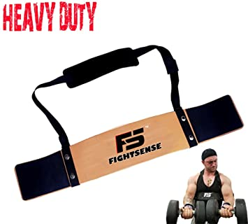 Weight Lifting Arm Blaster Biceps Isolator Bomber Curl Fitness Gym Workout Plate