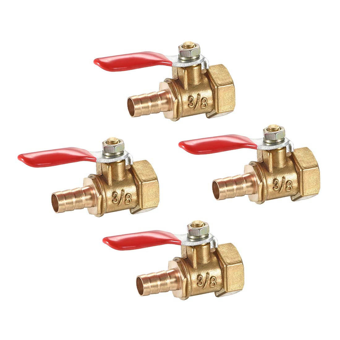 Ball Valve Female to Female Thread Brass Pipe Ball Valve Two Way Ball Valve Shut-off Valve for Water Oil and Gas G3//8