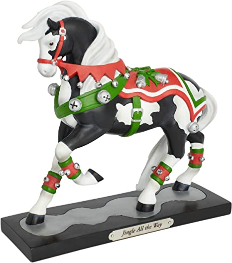 Multicolor 7.75 Inch Enesco Trail of Painted Ponies Holiday Peppermint Sticks Figurine
