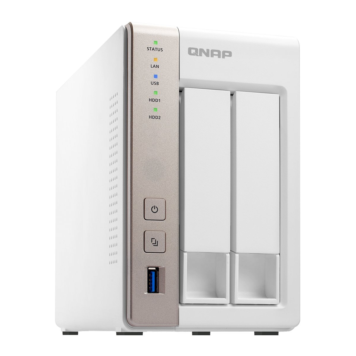QNAP TS-251 2-Bay Personal Cloud NAS, Intel 2 41GHz Dual Core CPU with  Media Transcoding (TS-251-US)