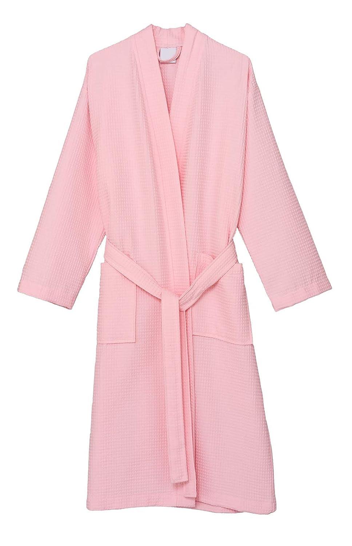 blueshing Bride TowelSelections Waffle Weave Robe Kimono Spa Bathrobe Made in Turkey