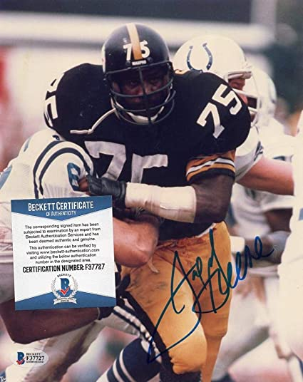 fe30e28646b Image Unavailable. Image not available for. Color  JOE GREENE PITTSBURGH  STEELERS SIGNED AUTOGRAPHED ...