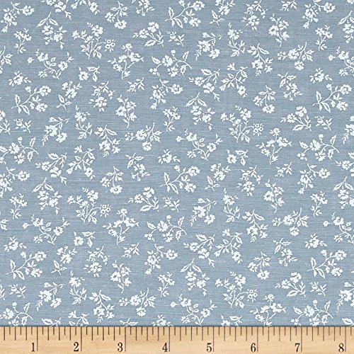 - Robert Kaufman Kaufman Sevenberry Classiques Chambray Flowers Denim Fabric by The Yard,