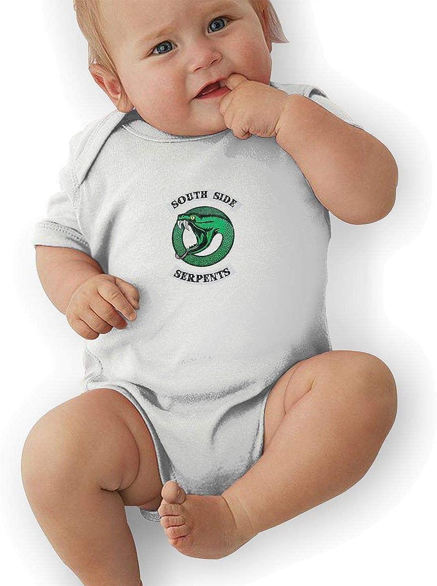 sunminey Body per Bambini Soft Baby Short Sleeve Romper Riverdale Serpents Southside Graphic Short-Sleeve Bodysuits